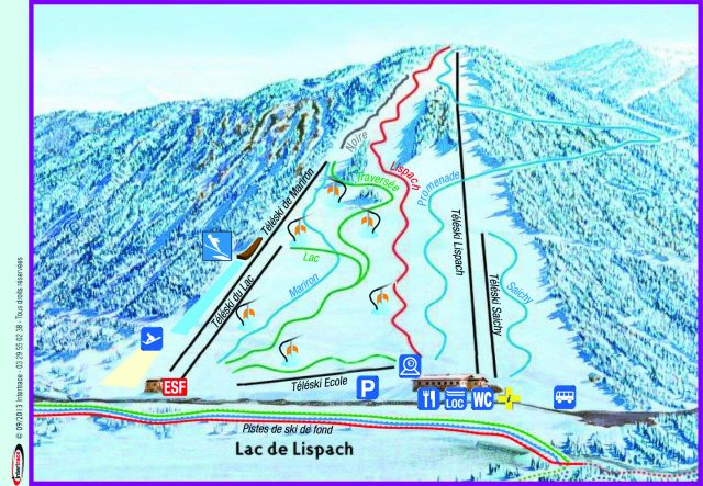 plan station alpine LISPACH
