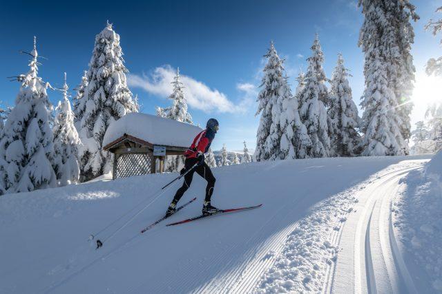 ski de fond à LISPACH en mode sportif