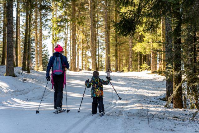 ski de fond en famille
